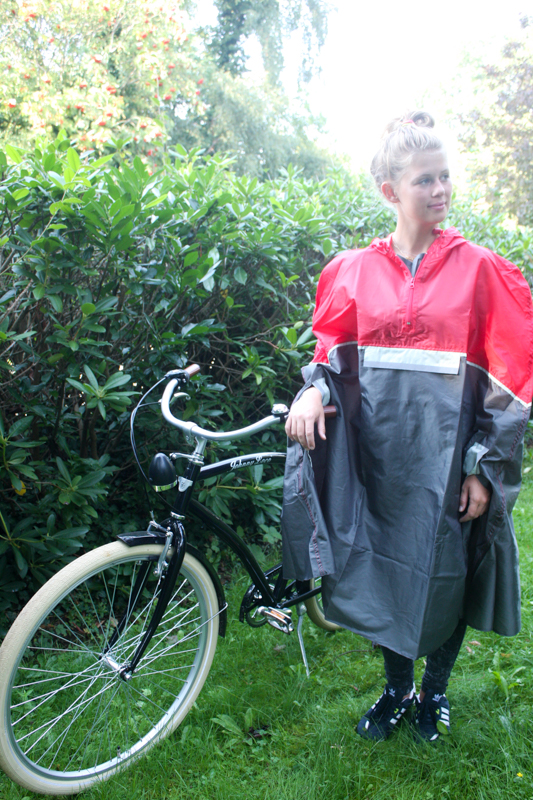 fahrrad regencape regenjacke rot unisex neu ebay. Black Bedroom Furniture Sets. Home Design Ideas