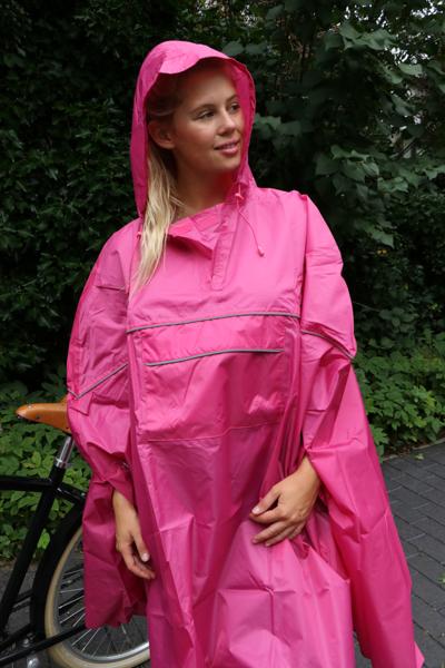 fahrrad regencape regenjacke pink magenta unisex neu ebay. Black Bedroom Furniture Sets. Home Design Ideas